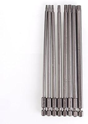 Juego de brocas magnéticas de destornillador Torx, 8 en 1, T8/T10 ...