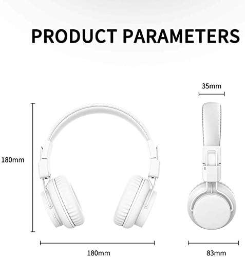 TYGYDLQ Bluetoothワイヤレスヘッドセットは、ノイズリダクションヘッドフォンは内蔵マイクヘッドセットタブレットのために、ソフトイヤーパッドを折ら (Color : B)