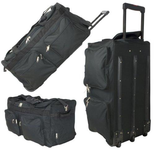 Phoenix XXXL Reisetasche mit 128 Liter - Jumbo Sporttasche / Trolley mit Rollen - Robuste Koffer Tasche