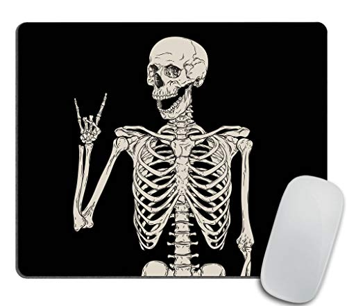 Skull Human Skeleton Mouse pad,Human Skeleton Posing Isolated Over Black Background Mouse pad 9.5 X 7.9 Inch (240mmX200mmX3mm) ()