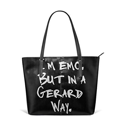 I'm Emo But In A Gerard Way Fashion Women's Leather Handbags Ladies Waterproof Shoulder Bag Tote Bags