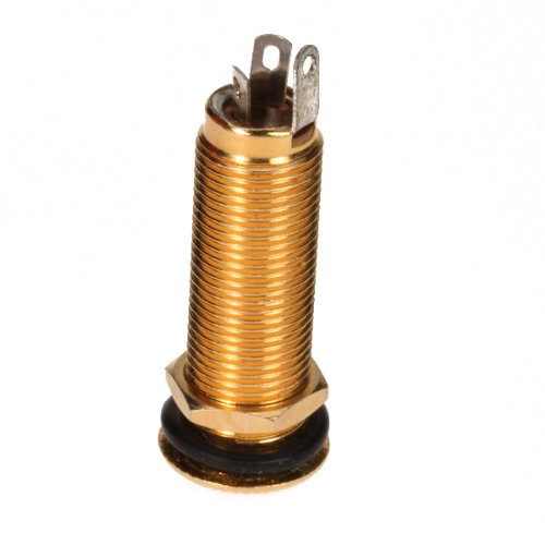 - Low Noise Flush Mount Gold Brass Metal Output Jack For Electric Guitar Bass Part