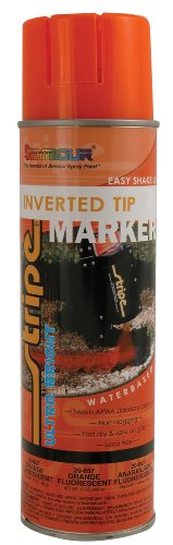 Seymour 20-657 Stripe Inverted Tip Marker, Orange Fluorescent