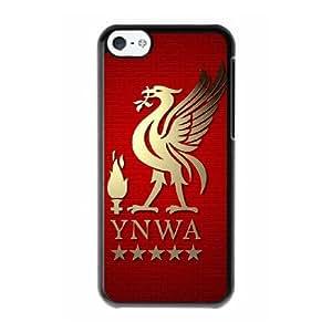 Liverpool Logo F9V4UW2H Caso funda iPhone 5c Caso funda del teléfono celular Negro