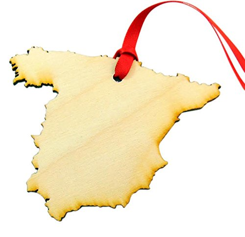 Spain España Wooden Country Christmas Ornament Boxed Spanish Decoration Handmade in the U.S.A. by Westman Works