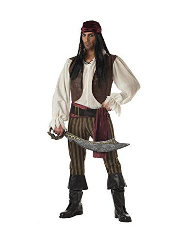 California Costumes Men's Rogue Pirate Costume, Brown, Size Medium