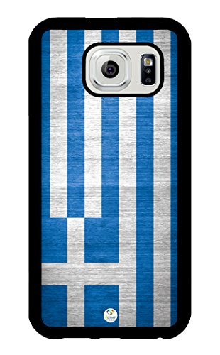 iZERCASE Samsung Galaxy S6 Case Greece Greek Flag Design Rubber - Fits Samsung Galaxy S6 T-Mobile, AT&T, Sprint, Verizon and International American Flag Design Faceplate