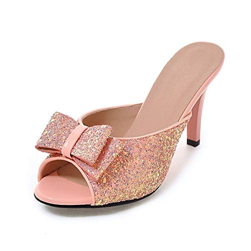 Calzado Pink 32 Arco 43 Grande Tamaño Mules Zapatos Hoesczs Verano Superiores Mujer Fiesta 2018 De Bombas 6qwZFBTg