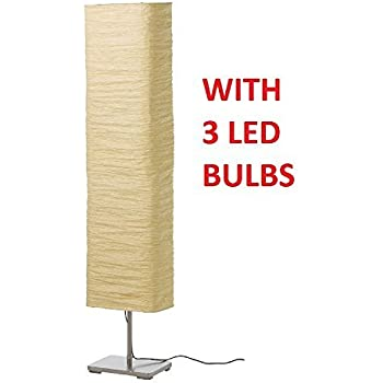 Floor Lamp with Rice Paper Shade Soft & Warm Glow Perfect