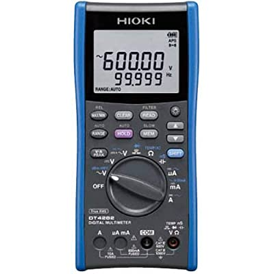 Hioki DT4282 True-RMS Digital Multimeter, 1000V AC/DC, 60,000 Count with 10A Direct Input
