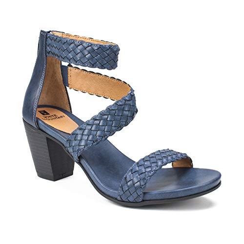 WHITE MOUNTAIN Shoes Sundown Women's Sandal, Navy/Burn/Smooth, 8H M