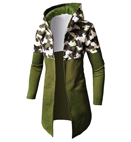 Mimetica Cardigan Doufine Con Casuale Trench Verde Tuta Militare Giacca Uomini Cappuccio nPqRwpxwO