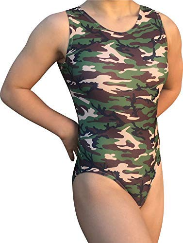f2674f47a Amazon.com  AERO Leotards Girl s Gymnastics Leotard - Camouflage ...