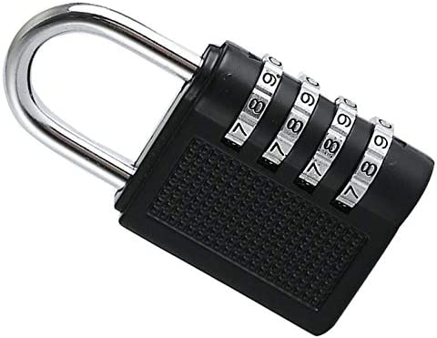 deYukiko Zahlenschloss Home Security Vorh/ängeschloss Wetterfestes Vorh/ängeschloss mit 4 Ziffern