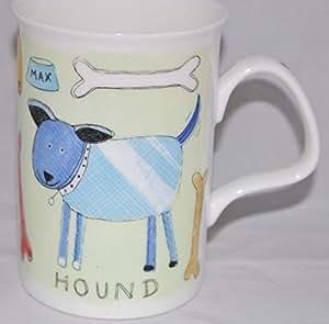 Roy Kirkham de animales perro de porcelana fina taza de colores Flair rugs