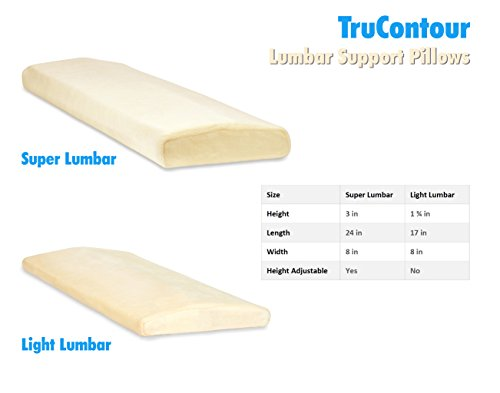 Trucontour Lumbar Pillow For Sleeping Back Pain Support