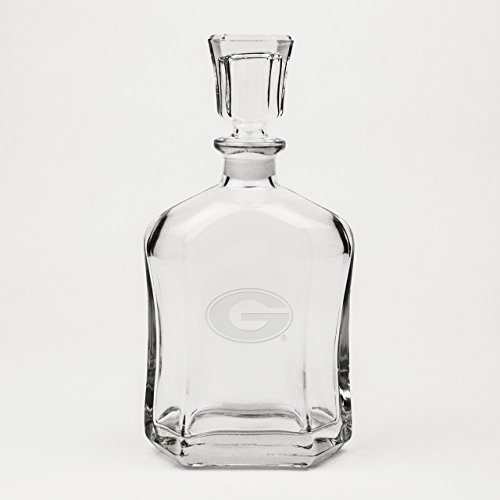 (CC Glass Georgia Bulldogs Deep Etched Whiskey Decanter)