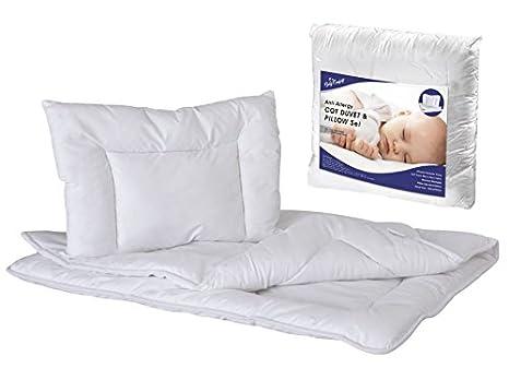 Hipoalergénico para edredón y almohada Set 135 x 100 cm para bebé cuna cama: Amazon.es: Bebé