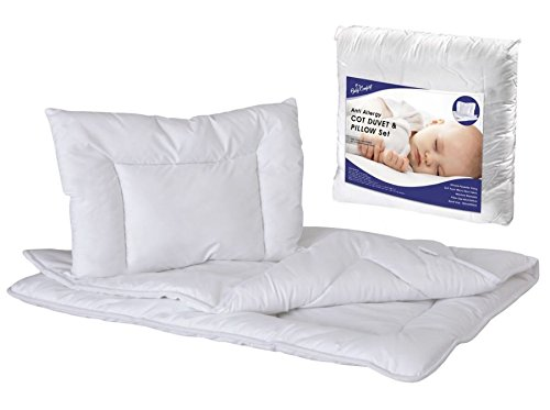 Anti Allergy Duvet and Pillow Set 80x70 cm for Crib Or PRAM Baby Comfort