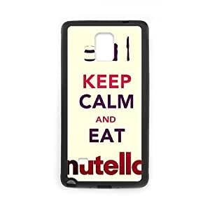 CeeMart Keep Calm AND EAT Nutella Pattern Plastic Hard Case TPU Phone case cover for SamSung Galaxy Note4 black