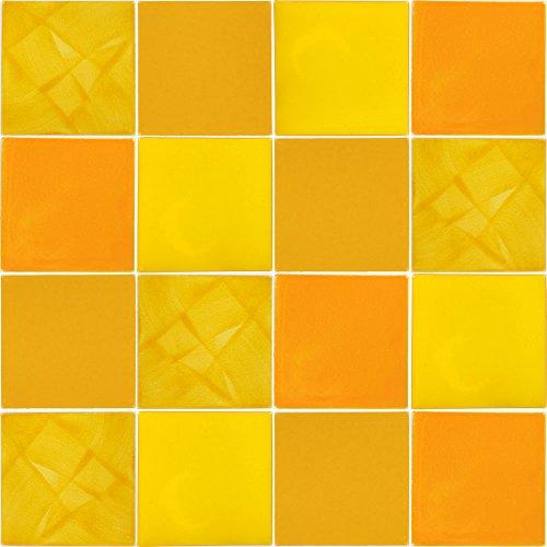 Tierra y Fuego Tile SET - Sixteen (16) 4¼ x 4¼ In. Ceramic Mexican Tiles - Talavera