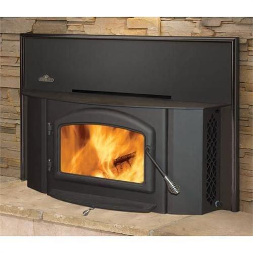 Wood Burning Fireplace Insert For EPI 1402  Metallic Black  Fireplace Inserts Wood