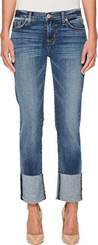 Hudson Jeans Women's Tally Deep Cuff Crop Skinny 5 Pocket Jean, Impala, 29