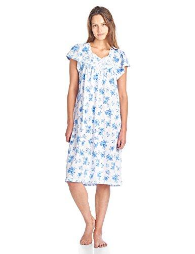 Casual Nights Women's Cotton Short Sleeve Sleep Dress