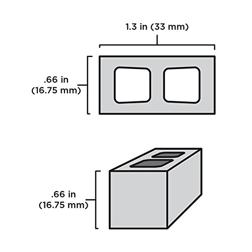 1:12 Scale Miniature Cinder Blocks - 50pk + Pallet by Mini Materials (Image #2)