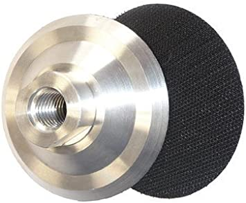 Pad 5//8-11 Thread for Diamond Polishing Pad 4 Inch Aluminum Backer 3 Pieces