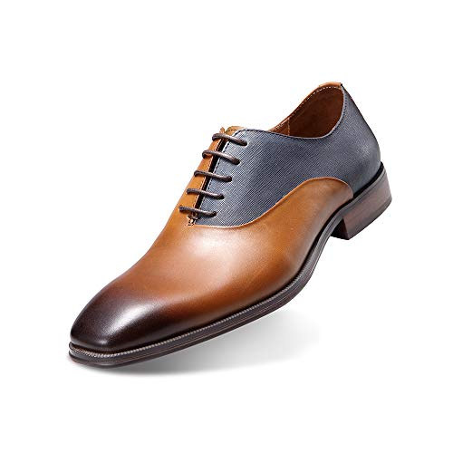 (Maestrami Men's Handmade Genuine Leather Shoes Retro British Style for Any Dress, Formal, or Party Occasions.)
