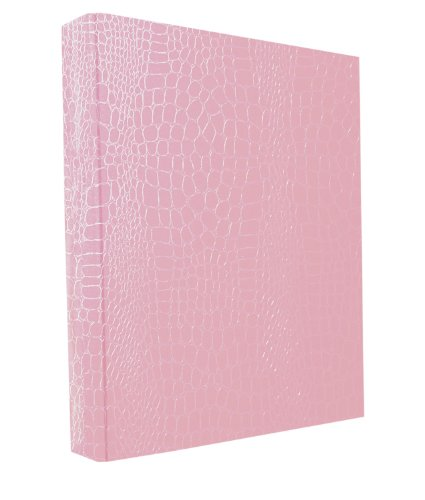 Aurora GB PROformance Binder, 2 Inch Round Ring, 8 1/2 x 11 Inch Size, Pink, Croc EmbossedEco-Friendly, Recyclable, Made in USA (AUA80130) by Aurora