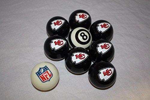 Kansas City Chiefs Billiard Pool Cue Ball Half Set