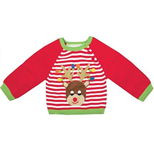 Zubels 100% Hand-Knit Reindeer Sweater All Natural Fibers by Zubels