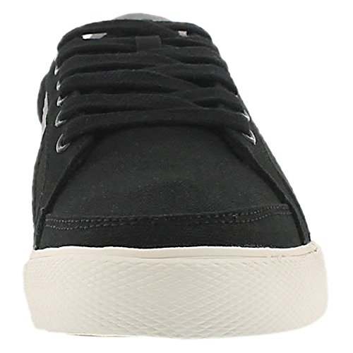 Polo Ralph Lauren Mens Hugh Lace Up Canvas Sneaker Di Moda Nero
