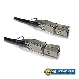 External HD Mini SAS SFF-8644 to HD Mini SAS SFF-8644 Cable 1 Meter