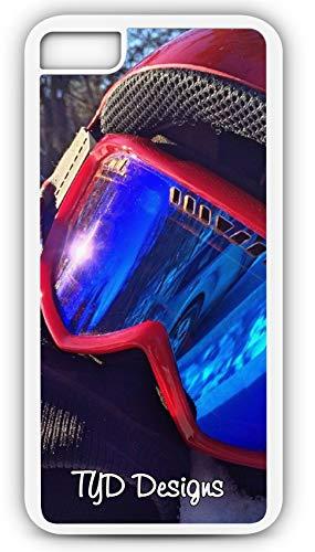 iPhone 8 Case Ski Mask Snowboard Winter Snow Downhill Snowboarding Customizable TYD Designs in White Plastic