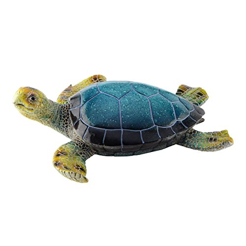 Sea Turtle Figure Pond Statue Yard Garden Art Ocean Sculpture