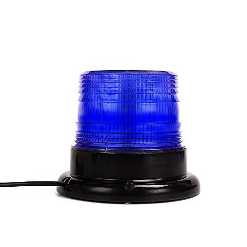 Led Strobe Light, Amber Emergency Magnetic Flashing Warning Beacon for Truck Vehicle with 12v Cigarette Lighter Plug Blue ()