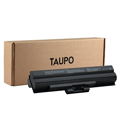 TAUPO New Laptop Battery for Sony Vaio VGN VGP-BPS21A, VGP-BPS13B/Q, VGP-BPS13/B, VGP-BPS13B/B, VGP-BPS13, VGP-BPS13A, VGP-BPL13 [Li-ion 9-Cell] - 12 Months Warranty - Sony Vaio Battery Bps13