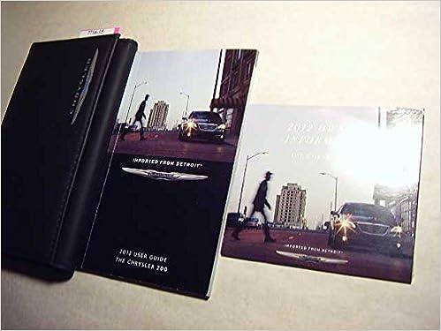 Book 2012 Chrysler 200 Owners Manual