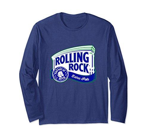 Unisex Rolling Rock Extra Pale Logo T-Shirt Large Navy