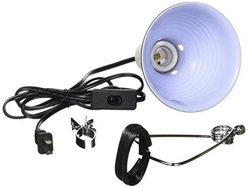 - Fluker's 27002 Repta-Clamp Lamp with Switch for Reptiles, 5.5-Inch