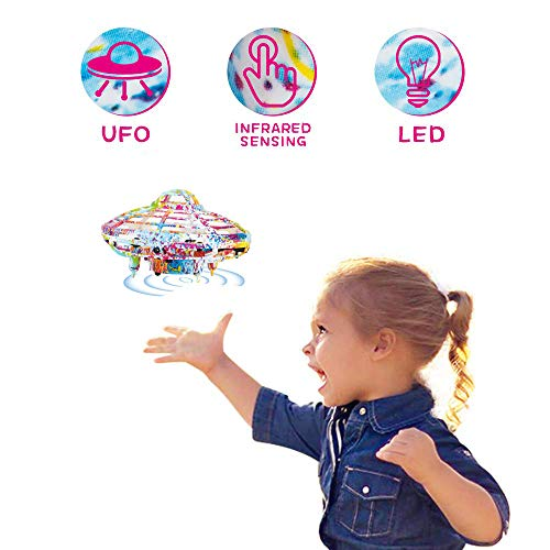 Flying Ball KOOWHEEL Hand Operated Drones for Kids and Adults, UFO Toy Controlled by Hand Mini Drones for Beginners, Hand Controlled Helicopter Ball with LED Lights, Flying Toys for Boys Girls