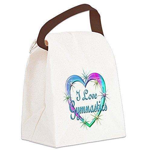 CafePress - I Love Gymnastics Canvas Lunch Bag - Canvas Lunch Bag with Strap Handle (Gymnastics Lunch)