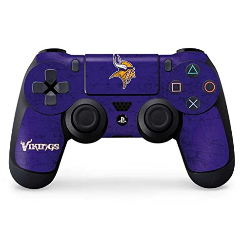 NFL Minnesota Vikings Distressed Skin for Sony PlayStation 4/ PS4 Dual Shock4 Controller
