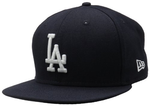 MLB Los Angeles Dodgers Navy with White Basic Cap, Blue, 7 3/8 ()