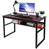 "Homemaxs Computer Desk with Bookshelf 47""x23"" Large Office Desk Workstation Writing Desk for Home Office Furniture"