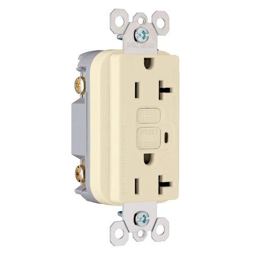Pass & Seymour 2095I Trademaster GFCI Receptacle 20 Amp 125 Volt AC, Ivory