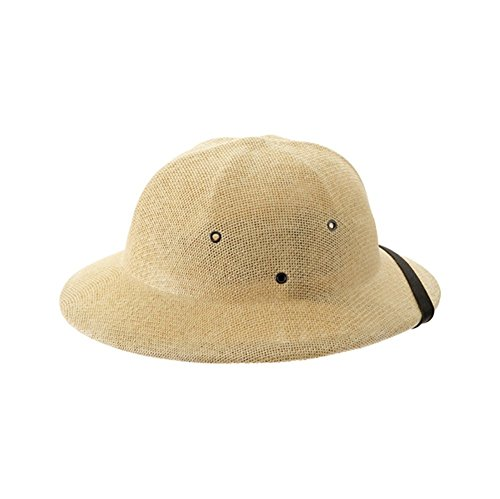 Natural Tan Seagrass Pith Safari Jungle Helmet Hat Pkg/3